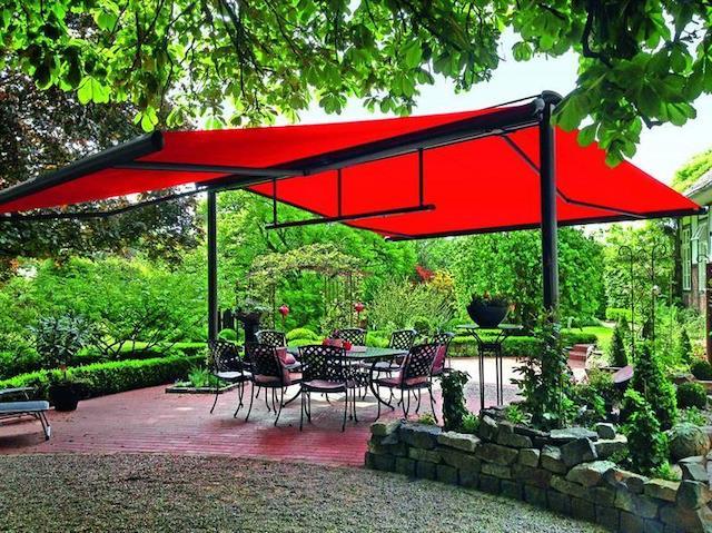 Mái che quán cafe giá rẻ, mái xếp quán cafe sân vườn đẹp kèm báo giá